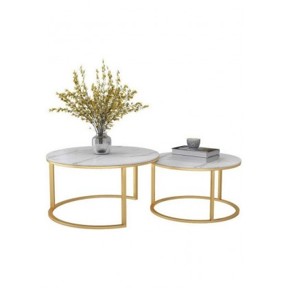 Coffee Table Marble 2 Piece Set